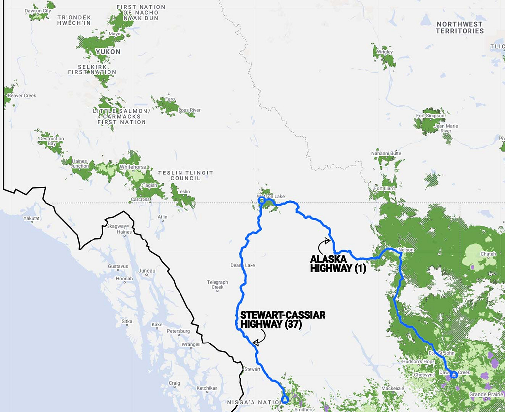 Yukon-Cell-Phone-Coverage-Map