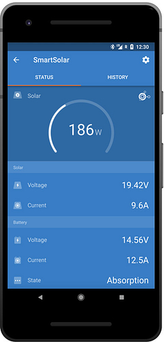 Victron-Smart-Solar-Charge-Controller-VictronConnect-Status