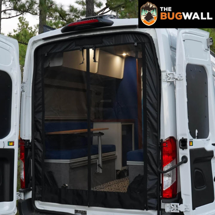 Insect Bug Mosquito Screens, The Bug Wall (Rear Door Full Ford Transit)