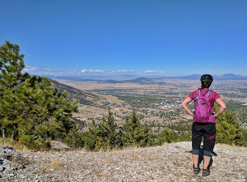 Helena with a view