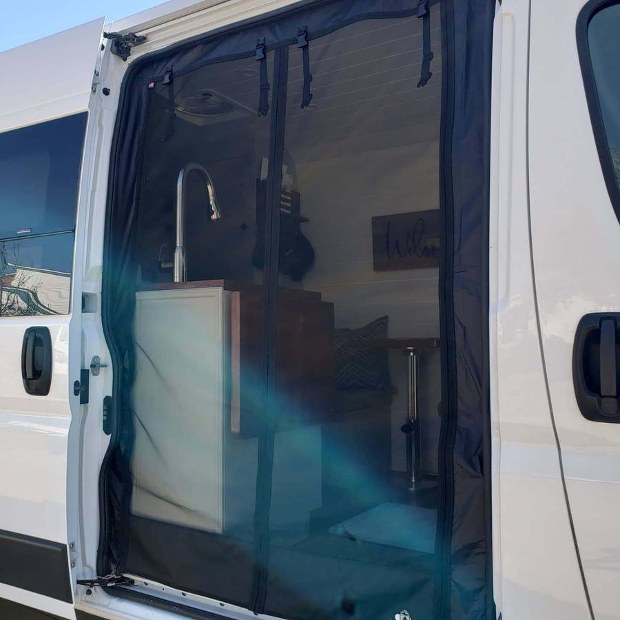 Insect Bug Mosquito Screens, The Bug Wall (Side Door Ram ProMaster)