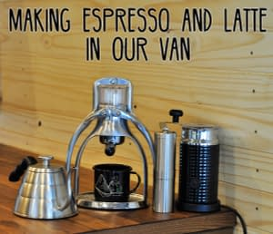 Making-Espresso-and-Latte-in-our-van