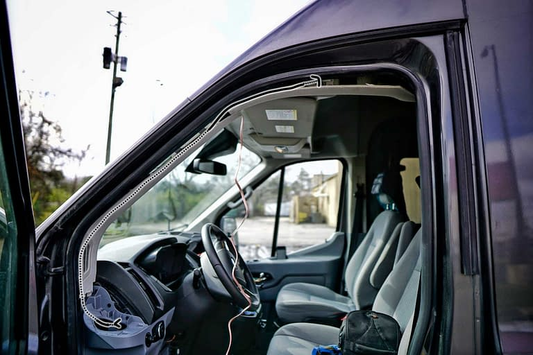 Speaker-Ford-Transit-Cable-Routing