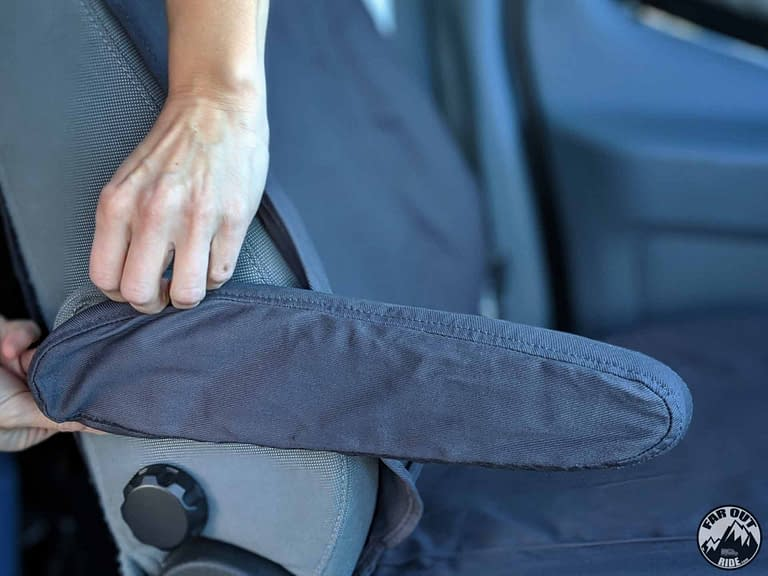 Seat Covers Ford Transit OEM Covercraft Review (armrest)